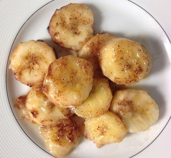 Bananas Sauteed with Cinnamon and Brandy